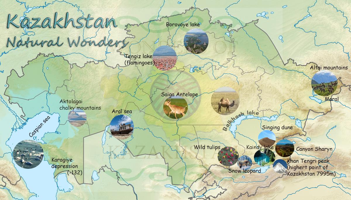 Kazakhstan Tourist Maps - wondersofkazakhstan.kz